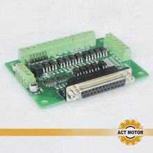 ACT Motor 6Axis interface Board(Breakout Board DB25) адаптер фрезерный станок с ЧПУ фрезерный станок для гравировки лазерный принтер