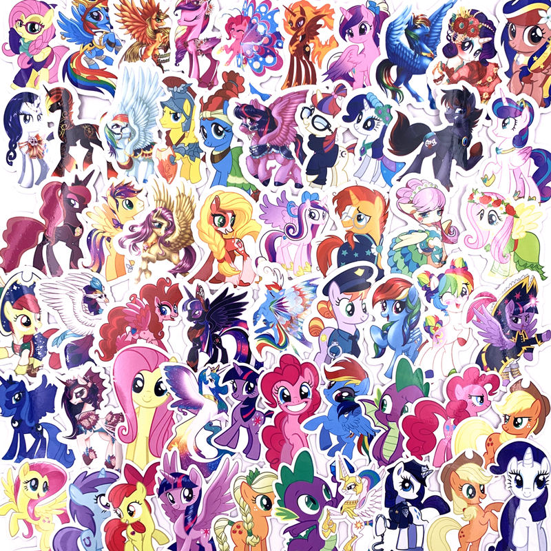 92pcs My Little Pony Stickers Princess Unicorn Cartoon Theme Pull Box Pegatinas Car Motorcycle Wall Graffiti Sticker Toys