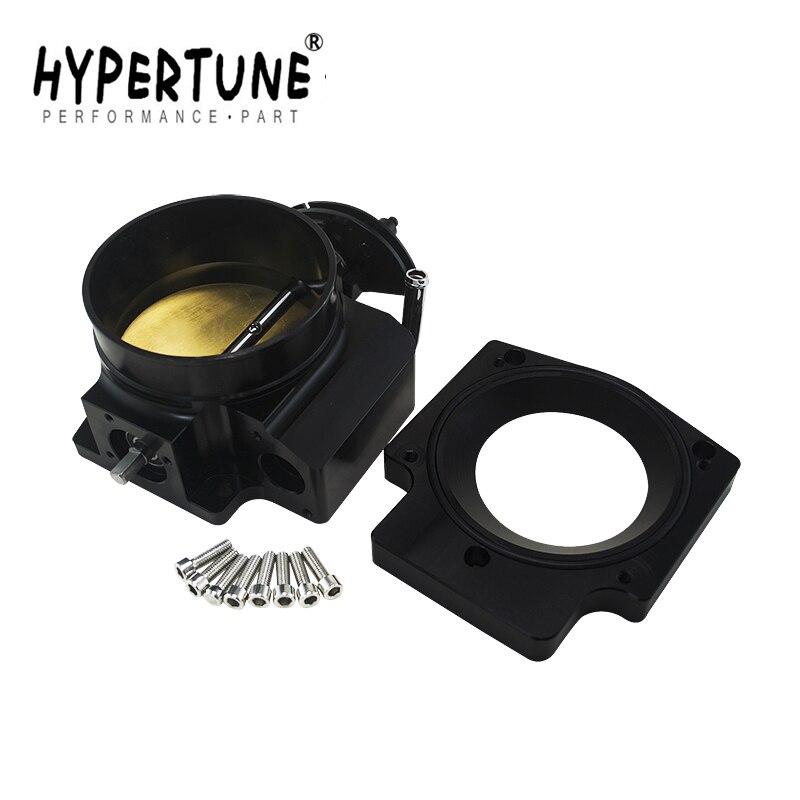 Hypertune 102mm Throttle Body Manifold Adapter Plate for LS LS2 LS3 LS6 LS7 LSX BLACK HT6938