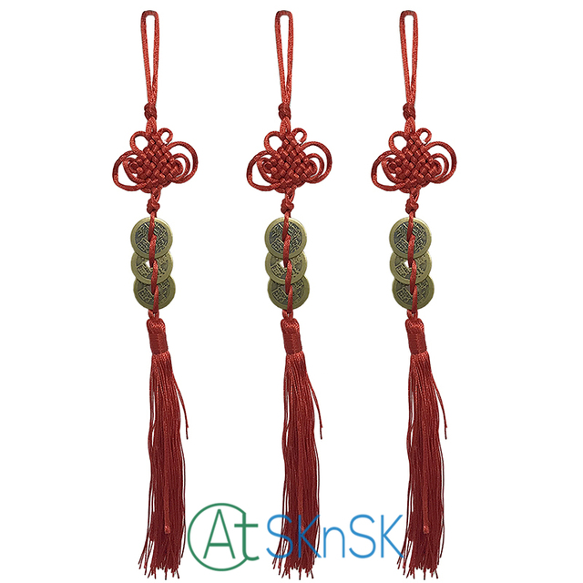 10pcs Chinese Antique Lucky Feng Shui Coin For Car Hanging Decor