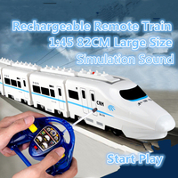 Children RC Toys 757P 006 15 1/20 Omni directional wheel CRH China electric remote control train high speed rail locomotive