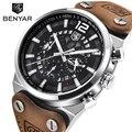 Топ бренд benyar большой циферблат дизайн хронограф спортивные мужские часы модные Военная Униформа водостойкие кварцевые часы Relogio Masculino