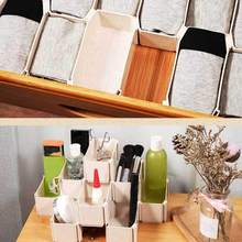 6 Grids Bra Underwear Organizer Home Storage Box Plastic Wardrobe Drawer Closet For Women Girls Socks Boxes