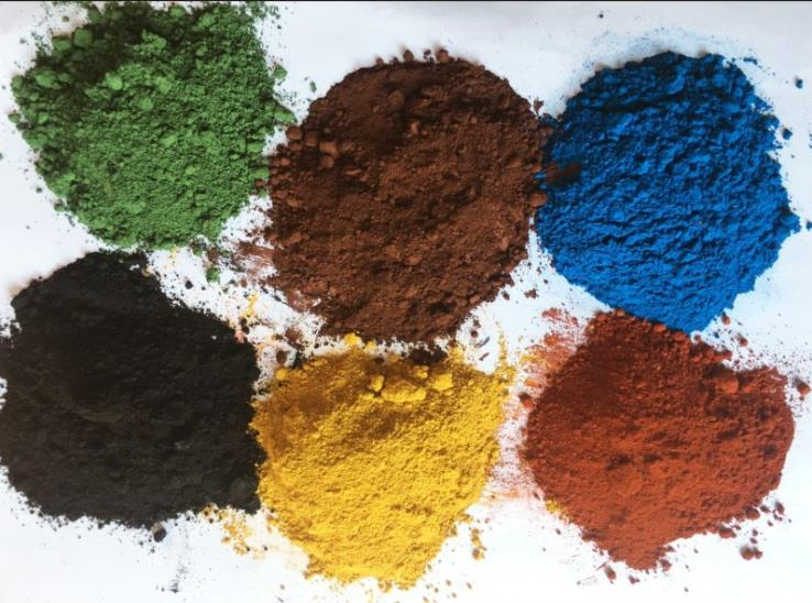 Black Brown Yellow Green Orange Blue Iron Oxide Inorganic Pigment  Powder