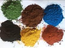 Preto marrom amarelo verde laranja azul óxido de ferro pó de pigmento inorgânico