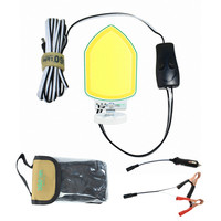 12V 15W COB pentagon recessed LED panel Light 1080LM Work Decor Lamp rechargeable portable lighting Magnetic base cob road trip