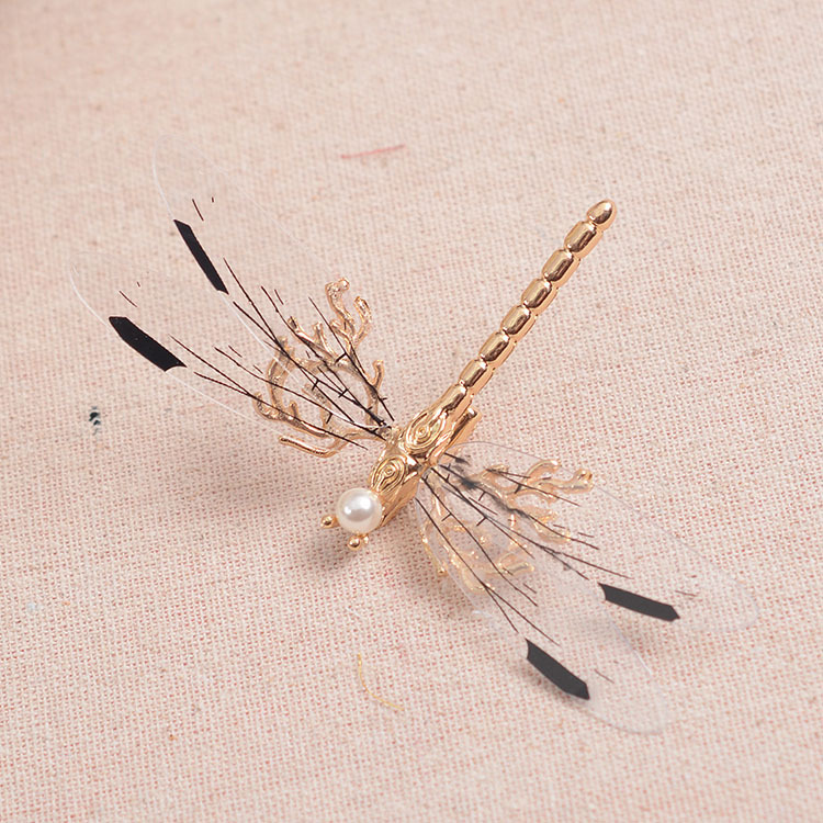 golden vivid dragonfly fairy wood/sea theme tiaras hair decoration party/costume accessory ballet/stage princess headwear