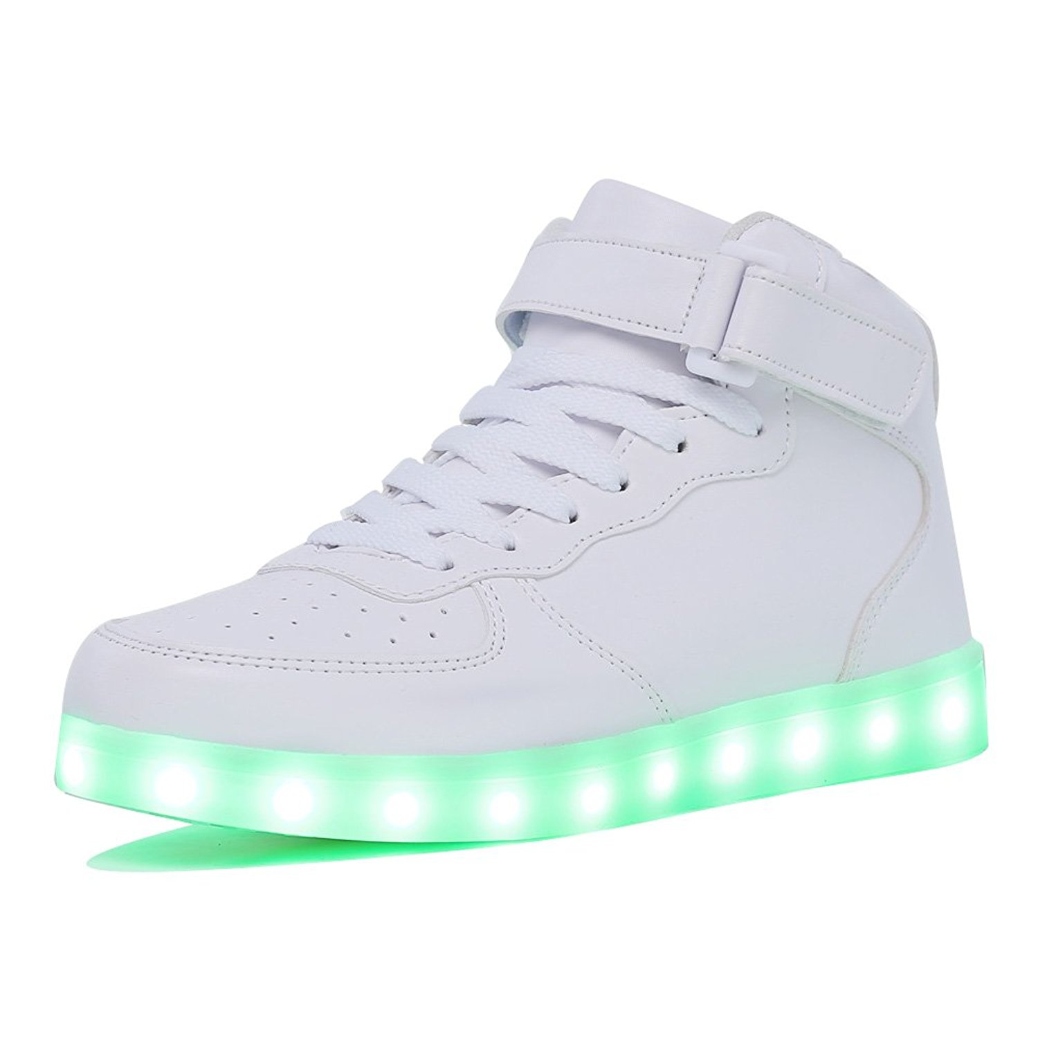 sports shoes 33b29 f3fce KRIATIV Adult Kids Boy and Girl s High Top LED Light Up Shoes Glowing  Sneakers Luminous Sole Sneakers