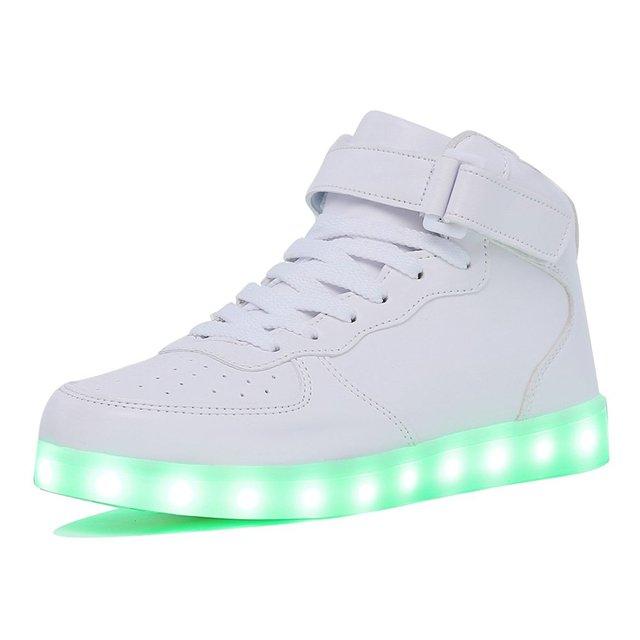 KRIATIV למבוגרים וילדים ילד וילדה של גבוהה למעלה LED אור עד נעלי זוהר סניקרס זוהר בלעדי סניקרס נשים & גברים