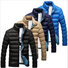 2018 New Jackets Parka Men Hot Sale Quality Autumn Winter Warm Outwear Brand font b Slim
