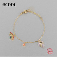 BCOOL Fashion Glamour Silver SWA Original Bracelet 1:1 Reproduction, Unicorn Adjustable Bracelet For Women's Jewelry Gifts