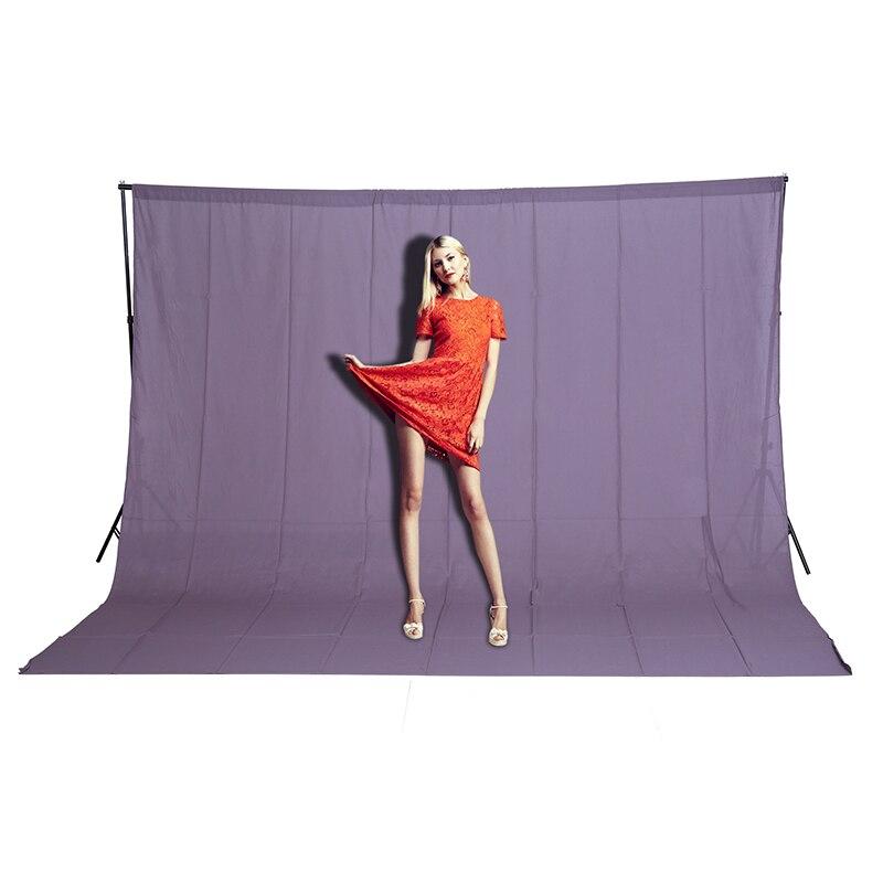 CY Free shipping 3mx2m Photo Lighting Studio Background 100% Cotton Chromakey Gray Screen Muslin Backdrop sheet effect image