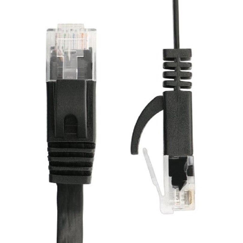 Плоский UTP Ethernet сетевой кабель CAT6 из чистой медной проволоки, RJ45 патч-кабель LAN 0,25 м 0,5 м 1 м 2 м 3 м 5 м 10 м 15 м 10 м черный белый цвет