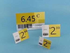 Image 5 - 4*6CM 50 pcs L label holder acrylic label price tag card display frame stand label frame table desk sign stand label holder case