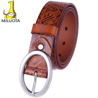 MILUOTA 2014 Women Fashion Belt 100 Genuine Leather Brand Belts Metal Pin Buckle Leather Belts