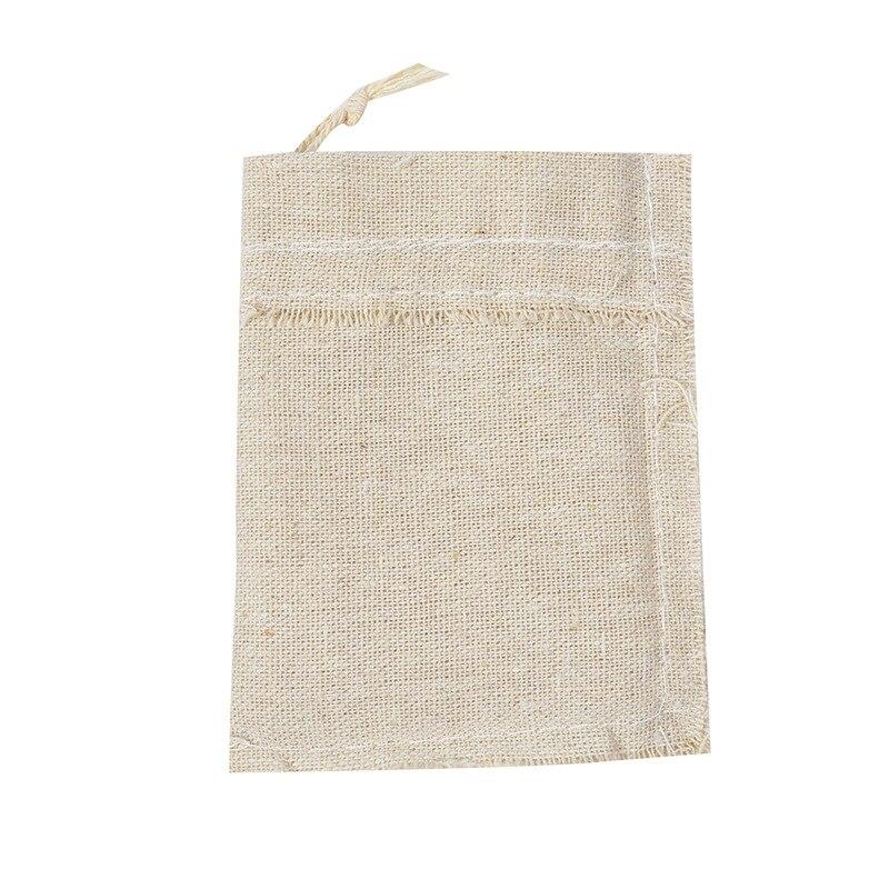 Coffee Bean Jewelry Pouch Storage Handmade Muslin Cotton Drawstring Packaging Gift Bags Wedding Favors Rustic Folk Christmas