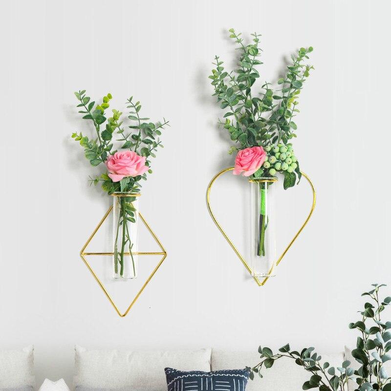 Aliexpress.com : Buy Wrought Iron Glass Test Tube Vase ... on Iron Wall Vases id=15470