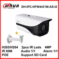 Dahua IP Camera Starlight H.265 4MP IPC-HFW4431M-AS-I2 with POE SD Card slot Audio/Alarm IP67 Waterproof DH-IPC-HFW4431M-AS-I2