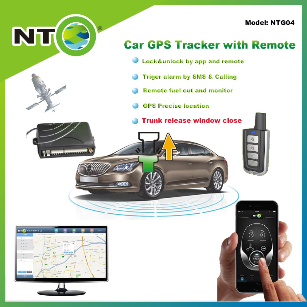NTG04 high quality historic tracking route gps tracker freeshipping remote truck release and window closing by app and sms