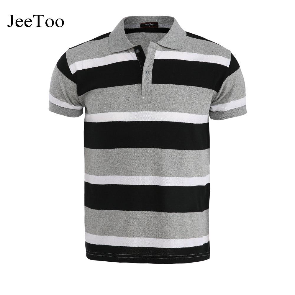 Men Polo Shirt Slim Fit Striped Men Polo Shirts Short Sleeve Mens