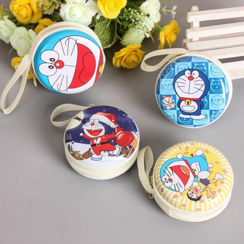 цена 2017 New Unisex Women Mini Cute Doraemon Round Headset Zipper Coin Purse Key Wallet Pouch Bag New Fashion Coin Packet онлайн в 2017 году
