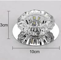 O envio gratuito de Cristal 3 W/5 W Downlights Led Teto Spot Light Lâmpadas luz Da Varanda Para O Interior Do Quarto Para Casa iluminação