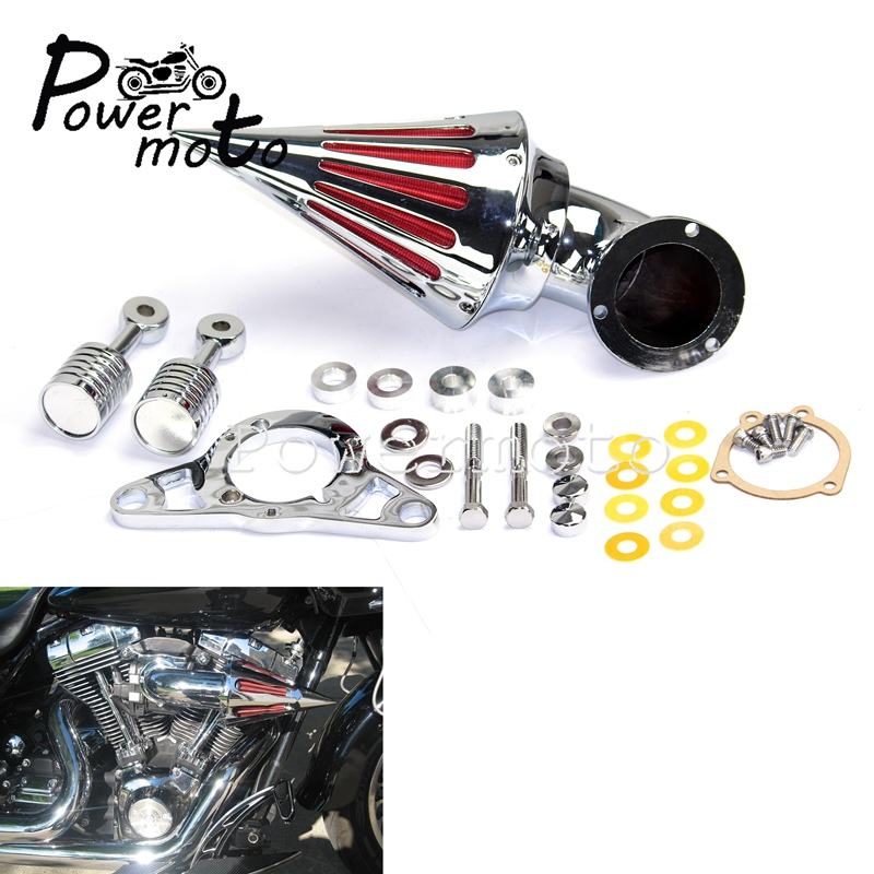 Motorbike Chrome Spike Air Filter Kit Intake Luchtfilter Voor Harley Softail Dyna Touring Softail Fat Boy Road Glide Efi Motor