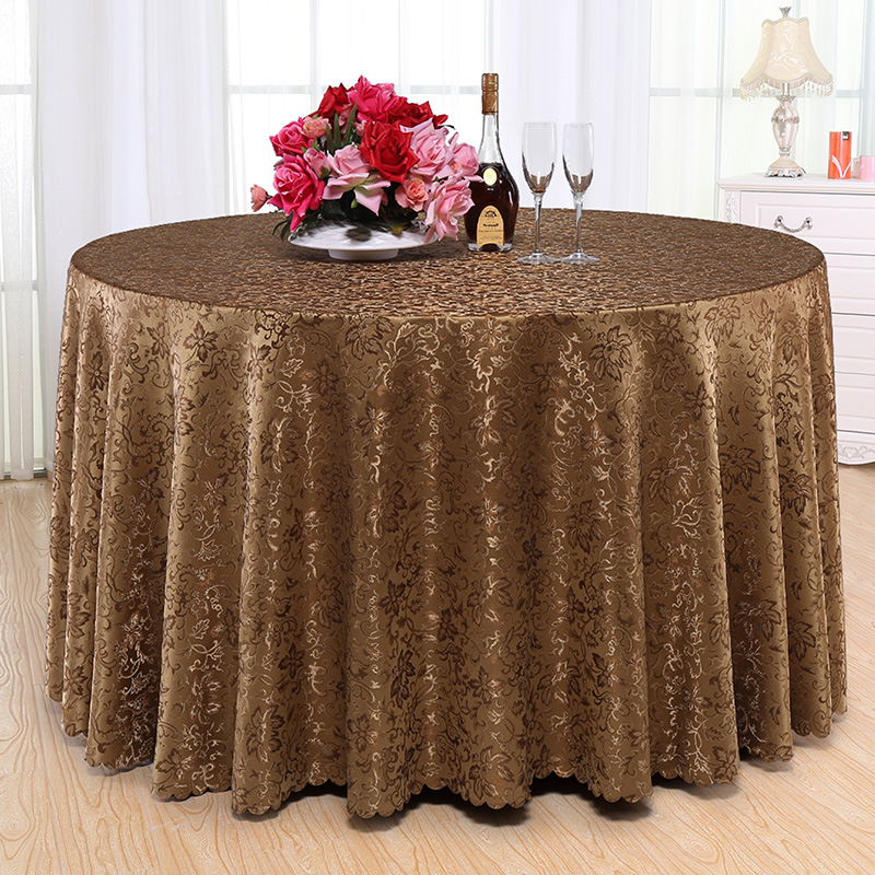 AliExpress & US $15.19 5% OFF|High Qualty Jacquard Fabric Round Table Cloth Polyester Rectangular Table Covers Hotel Party TOP Tablecloth Wedding Decoration-in ...