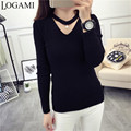 Autumn Pullover V Neck Women Sweaters And Pullovers Jumper 2016 Women Autumn Fashion Top Pull Femme