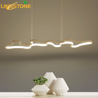 Luces colgantes Led Hanglamp Oscurecimiento De Control Remoto de Aluminio Moderna Lámpara Colgante Accesorio de Iluminación de la Sala de Cocina Restaurante