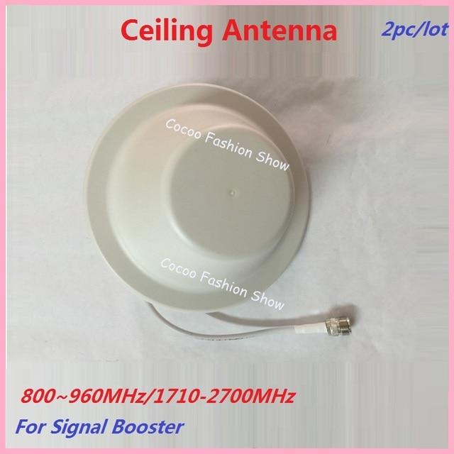 2 pc GSM 3G 4G LTE Antena de Teto 800-2700 mhz Interior Antena interna para GSM CDMA DCS PCS W-CDMA Mobile Phone Signal Booster