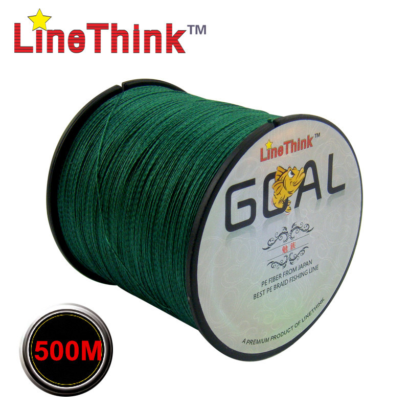 500M Brand LineThink GOAL Japan Multifilament 100% PE Braided Fishing Line 6LB To 120LB Free Shipping(China)