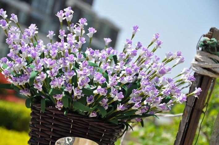 New Artificial flowers European pastoral style small Milan 5 color fake bouquet blue decorative flower home decor