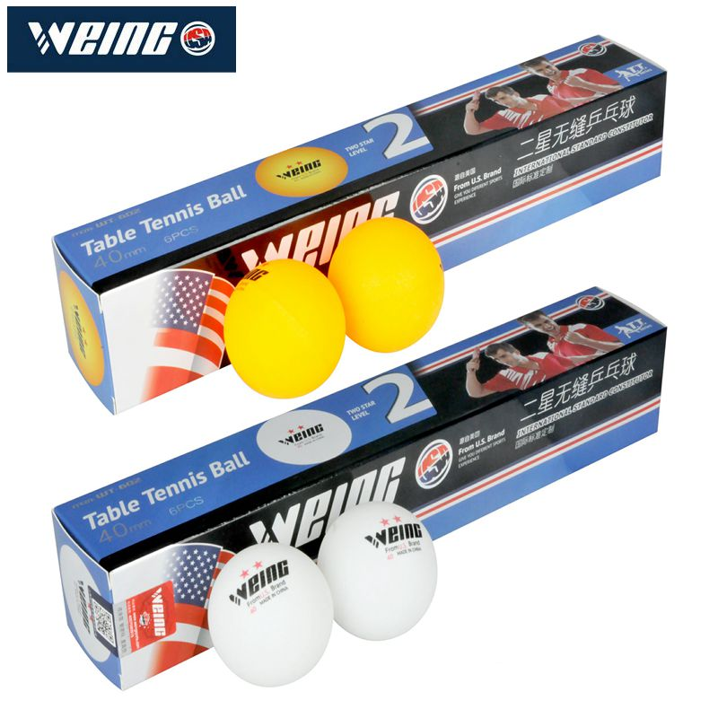 WEING 2 - Star D40 Table Tennis New Material 2 - Star Seamless Ball Table Tennis