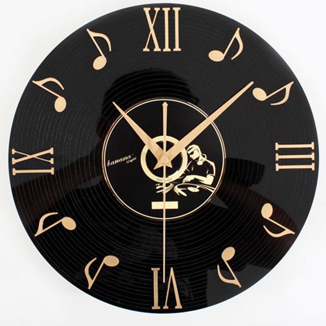 Classical Vintage 3D Acrylic Record Wall Clock Fashion Roman Numerals Home Decor Wall Clock Silent Non-tickingWall Clock