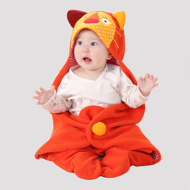 Cute Animal Baby Sleepingsacks Solid Cotton Outdoor Blanket Soft Warm Boys Girls Sleeping Bag Unisex Children Sleepwear & Robes