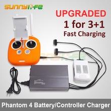Батареи параллельно зарядка концентратора пульт дистанционного управления устройство multi зарядное устройство для DJI Phantom 4 4 Pro и 4 Pro Plus