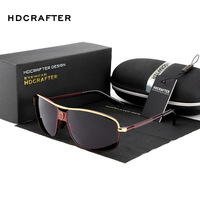 2016 HDCRAFTER Men S Aviator Polarized Sun Glasses HD Lens Fashion Cool Eyewear Sports Retro Goggles