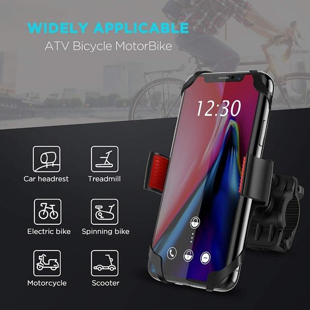 Universal Bicycle Phone Holder on Handlebar