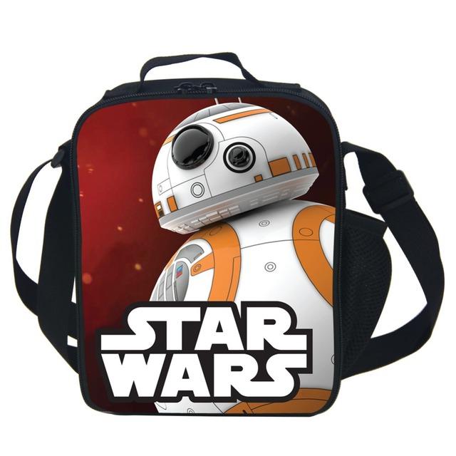 Isolados Almoço Saco de Star Wars Crianças Bebê Tote BB-8 Pacote Almoço Lancheira Portátil Conveniente