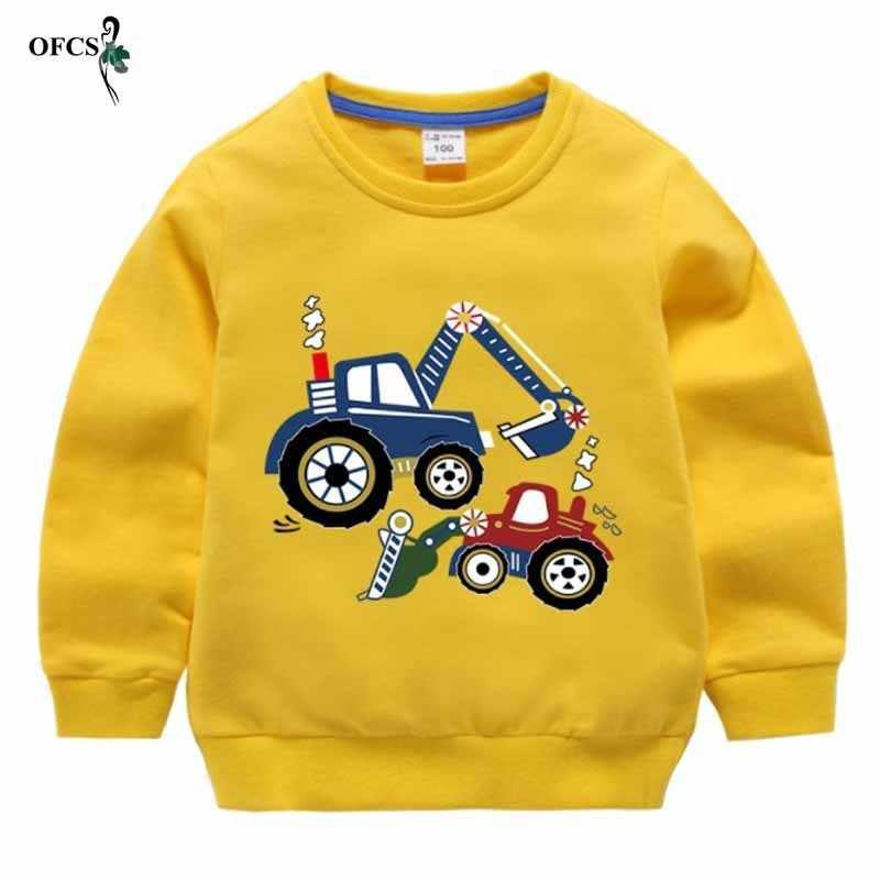 Einzelhandel Herbst Winter Warme Pullover 2-15 T Alte Kinder Langarm Cartoon Print Schule Baby Fleece Hübsche Kinder junge Strickwaren