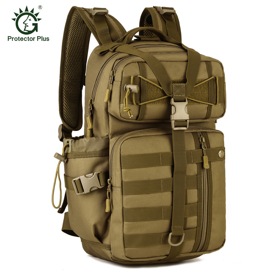 Protector Plus Outdoor Molle 30L Sport Bags Tactical Bag Military Backpack Fishing Hunting Camping Hiking Tactical Rucksack emersongear lbt2649b hydration carrier for 1961ar molle backpack military tactical bags hunting bag multicam tropic arid black