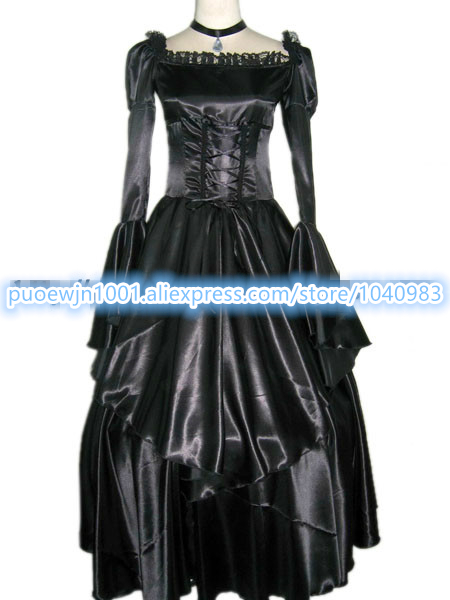 Code Geass CC Queen's Cosplay Costume Black  Dress Cosplay Costume Customized