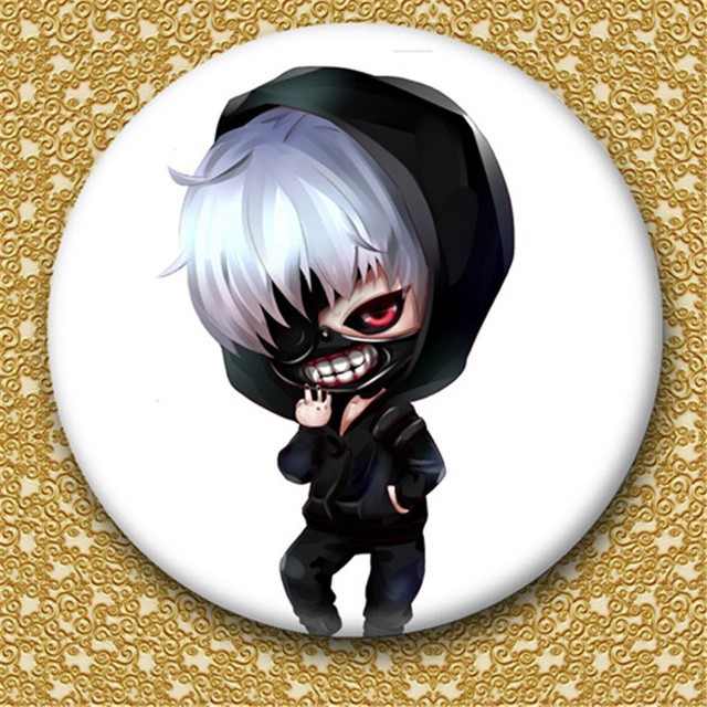 Decorative Anime Tokyo Ghoul Patterned Brooch