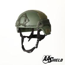 AA Shield Ballistic MICH Tactical Version Kevlar Helmet Color OD Green Bulletproof Aramid Safety NIJ Level IIIA  Military Army