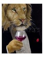Professional pet lion portraits The Wine King Will Bullas hand painted Canvas art picture in oil painting High quality