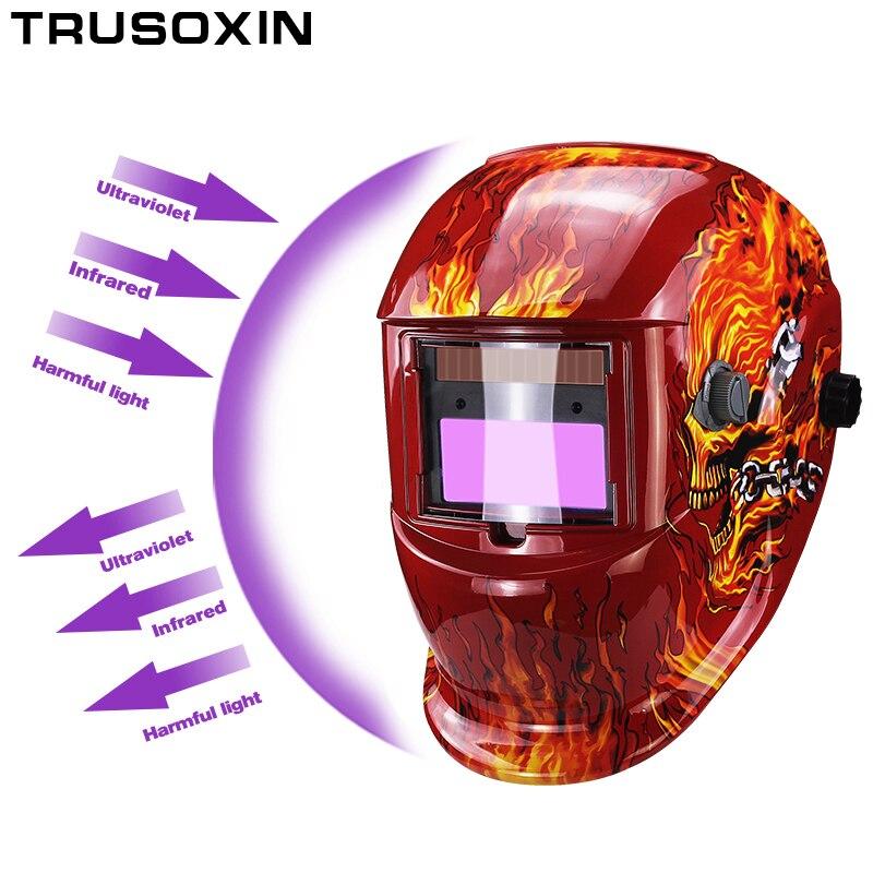 Solar+Li battery automatic darkening/shading TIG MIG MMA welding helmets/welder goggles/weld mask/caps free shipping