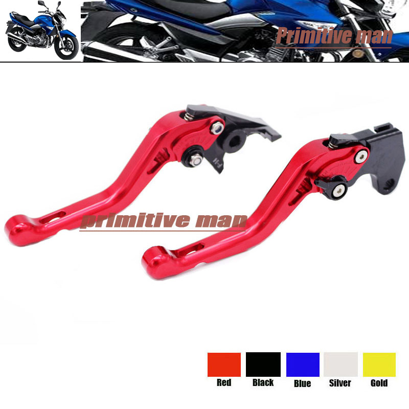 ФОТО For SUZUKI GW250 Inazuma 2013-2015 Motorcycle Accessories Short Brake Clutch Levers Red