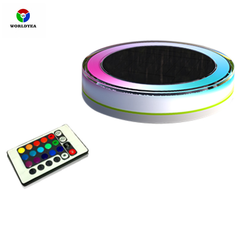 Rgb Led Underwater Light Solar Power Pond Fountain Swimming Pool Floating Ip68 Waterproof Led