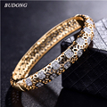2017 Fashion High Quality Love Bangle for Women  Gold  Plated Bracelet White CZ Zircon Engagement Jewelry Z026